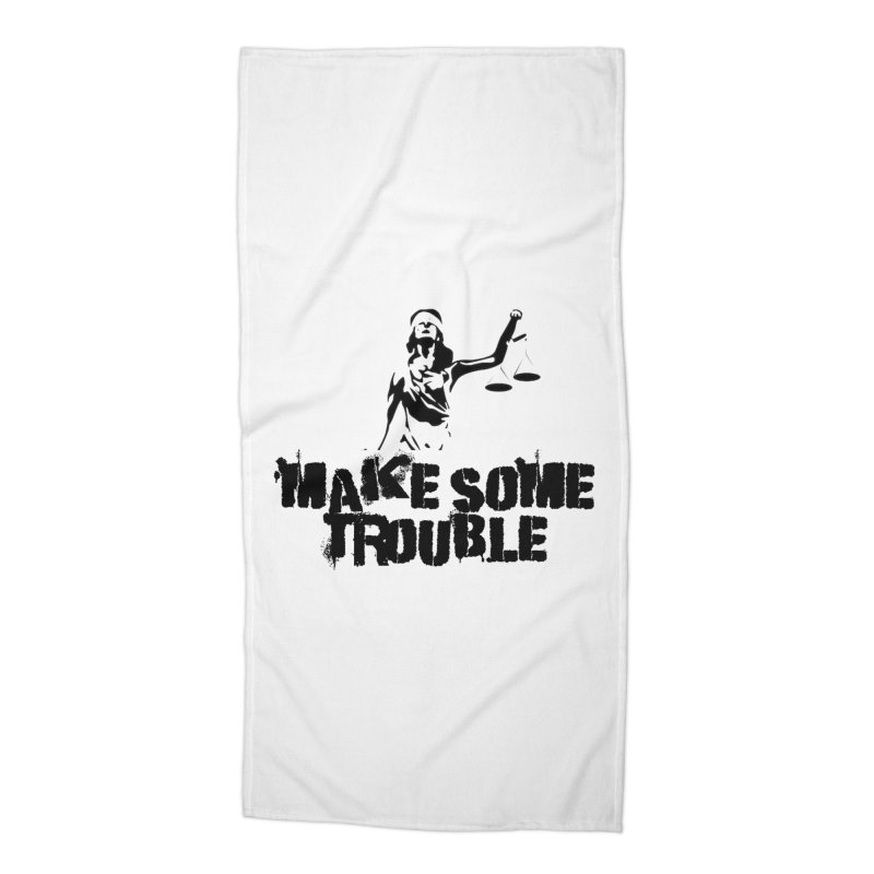 Make Some Trouble Accessories Beach Towel by The Slants