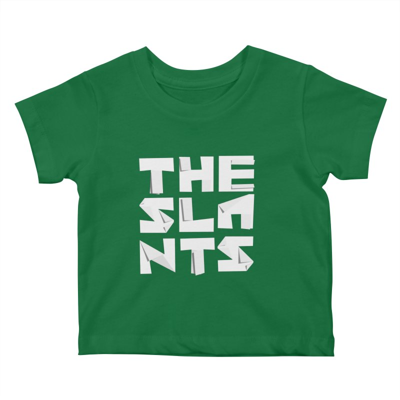 Origami Letters Kids Baby T-Shirt by The Slants