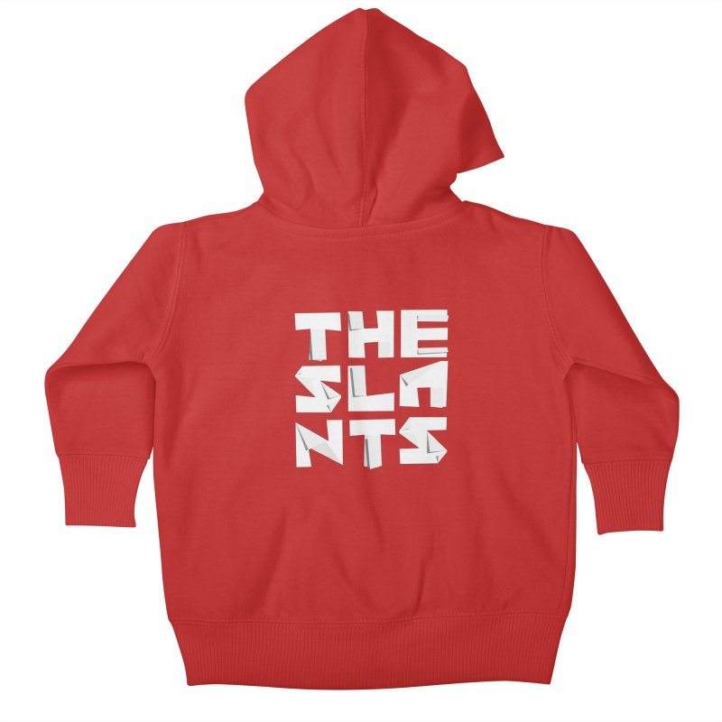 Origami Letters Kids Baby Zip-Up Hoody by The Slants
