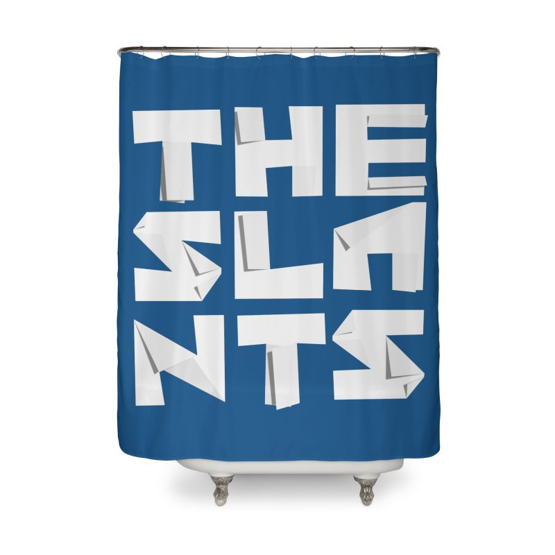 Origami Letters Home Shower Curtain by The Slants