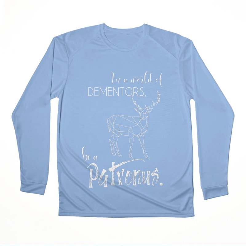 In a World of Dementors, Be a Patronus - White Men's Longsleeve T-Shirt by thespinnacle's Artist Shop