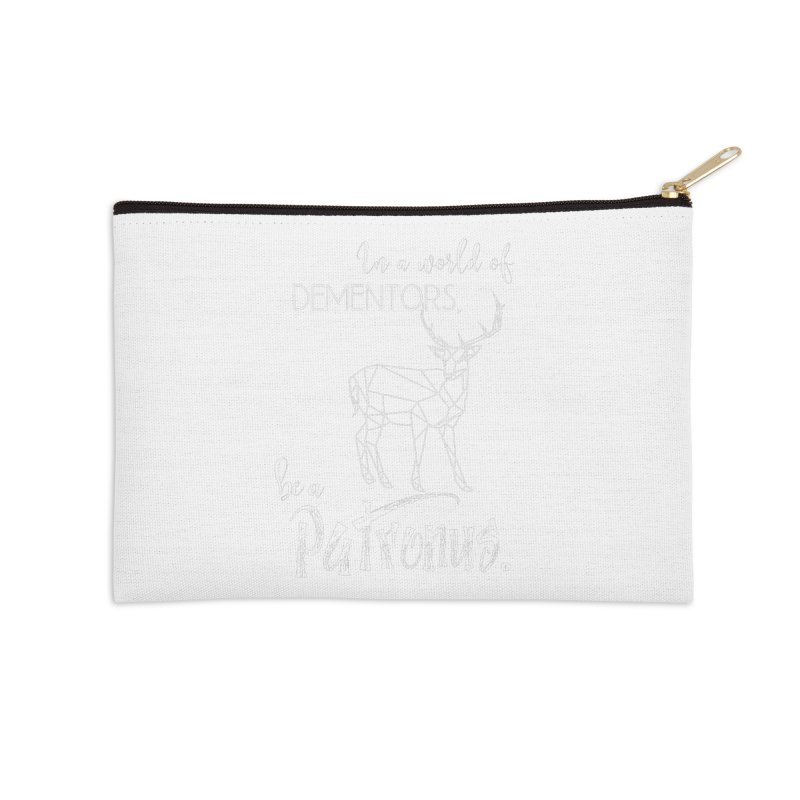 In a World of Dementors, Be a Patronus - White Accessories Zip Pouch by thespinnacle's Artist Shop
