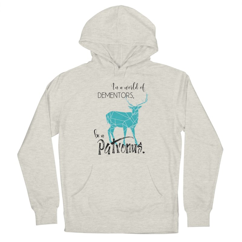 In a World of Dementors, Be a Patronus - Teal Men's French Terry Pullover Hoody by thespinnacle's Artist Shop