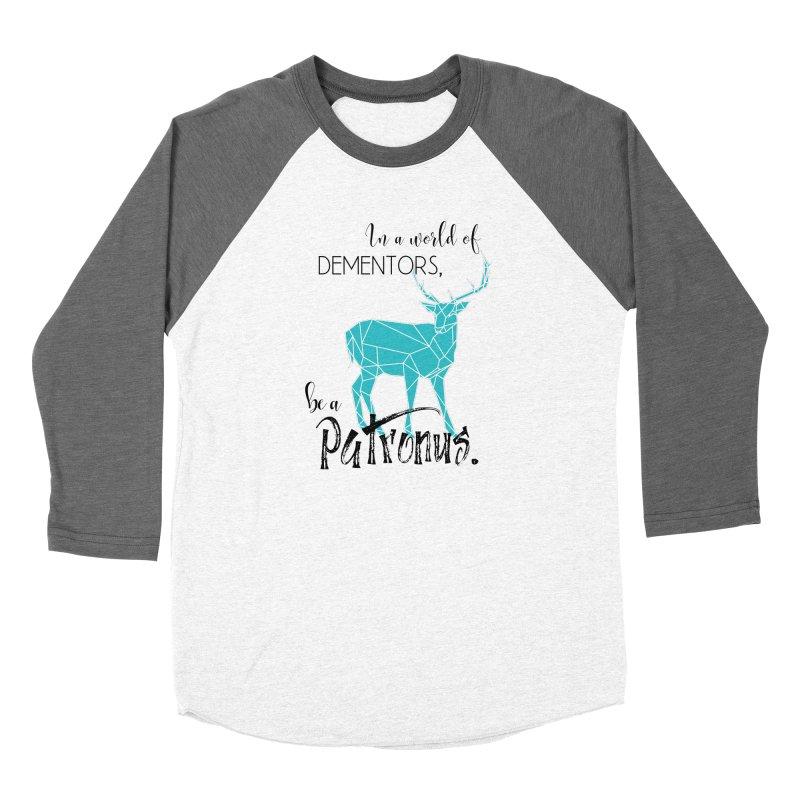 In a World of Dementors, Be a Patronus - Teal Men's Baseball Triblend Longsleeve T-Shirt by thespinnacle's Artist Shop