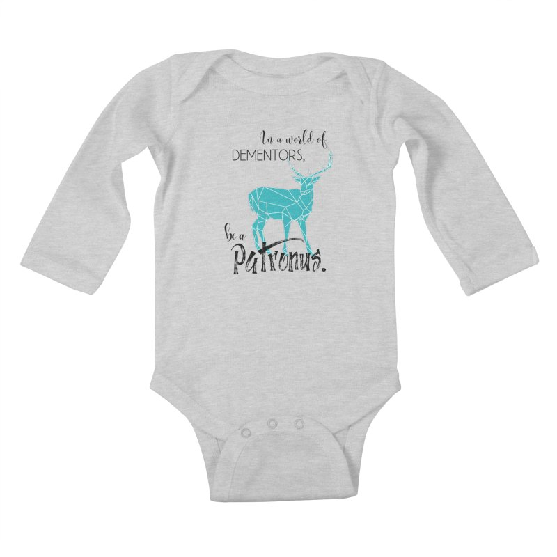 In a World of Dementors, Be a Patronus - Teal Kids Baby Longsleeve Bodysuit by thespinnacle's Artist Shop