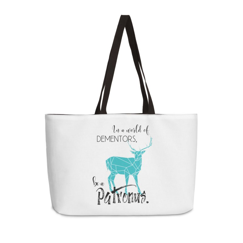 In a World of Dementors, Be a Patronus - Teal Accessories Weekender Bag Bag by thespinnacle's Artist Shop