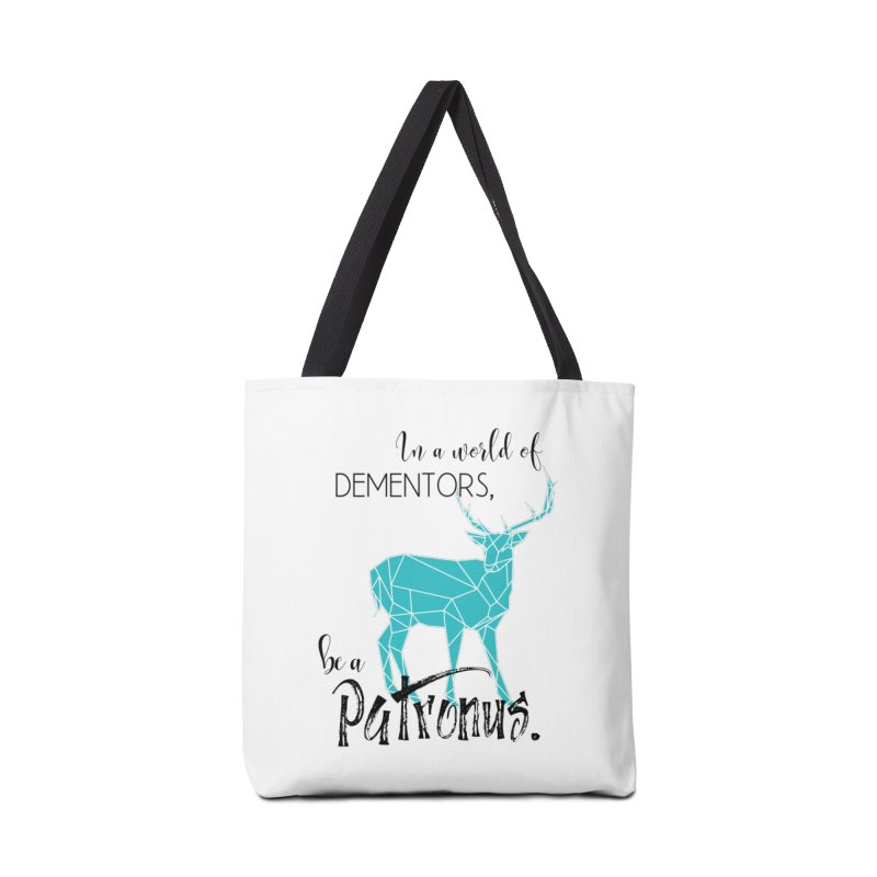 In a World of Dementors, Be a Patronus - Teal Accessories Tote Bag Bag by thespinnacle's Artist Shop