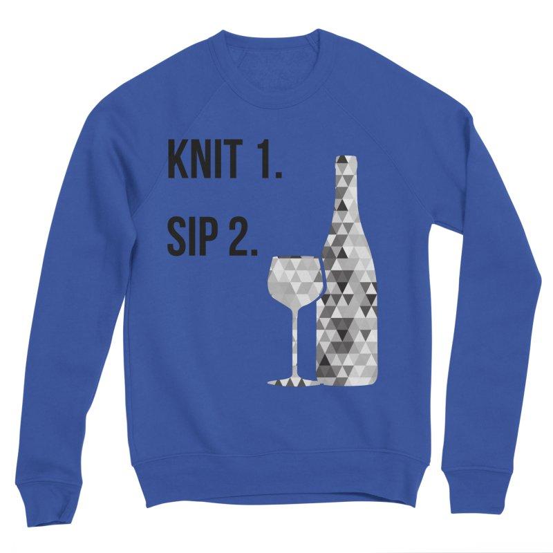 Knit One, Sip Two. - Black Men's Sponge Fleece Sweatshirt by thespinnacle's Artist Shop