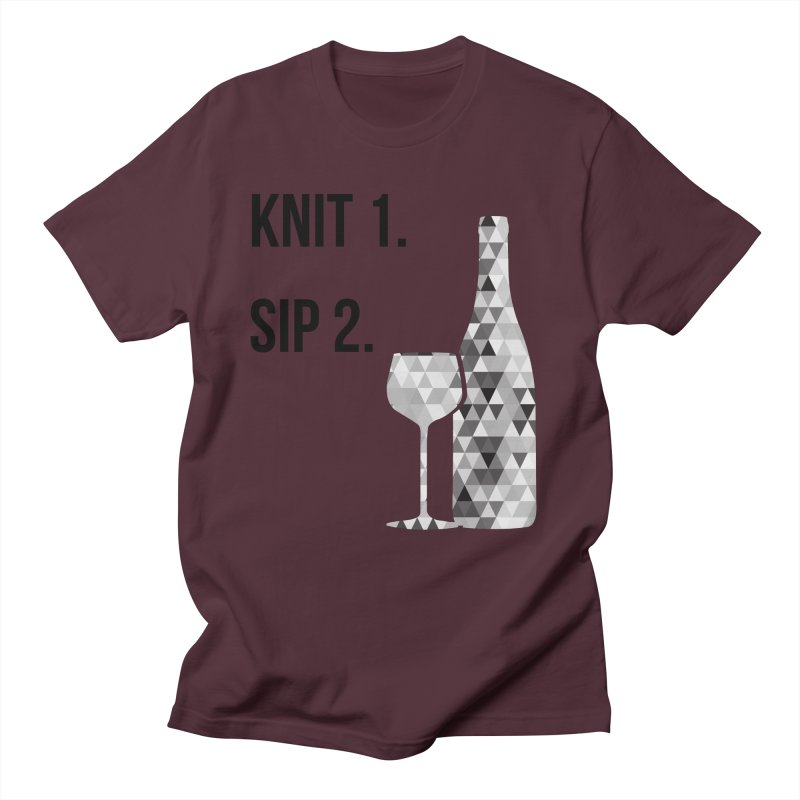 Knit One, Sip Two. - Black Women's Regular Unisex T-Shirt by thespinnacle's Artist Shop