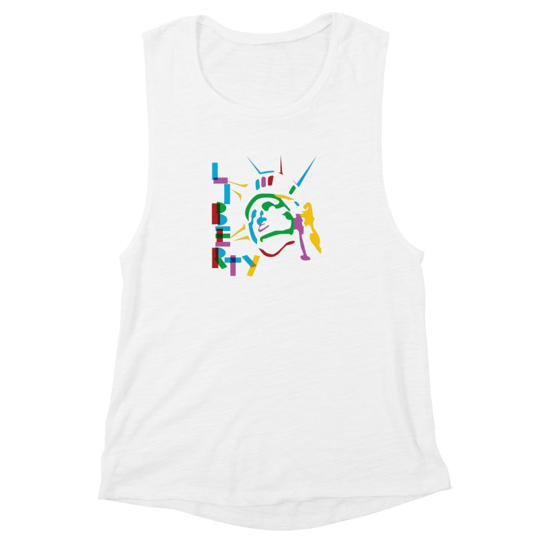 Liberty Women's Muscle Tank by The Starving Crew