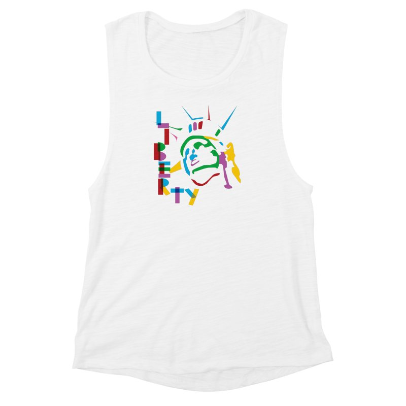 Liberty Women's Muscle Tank by The Starving Crew's Artist Shop