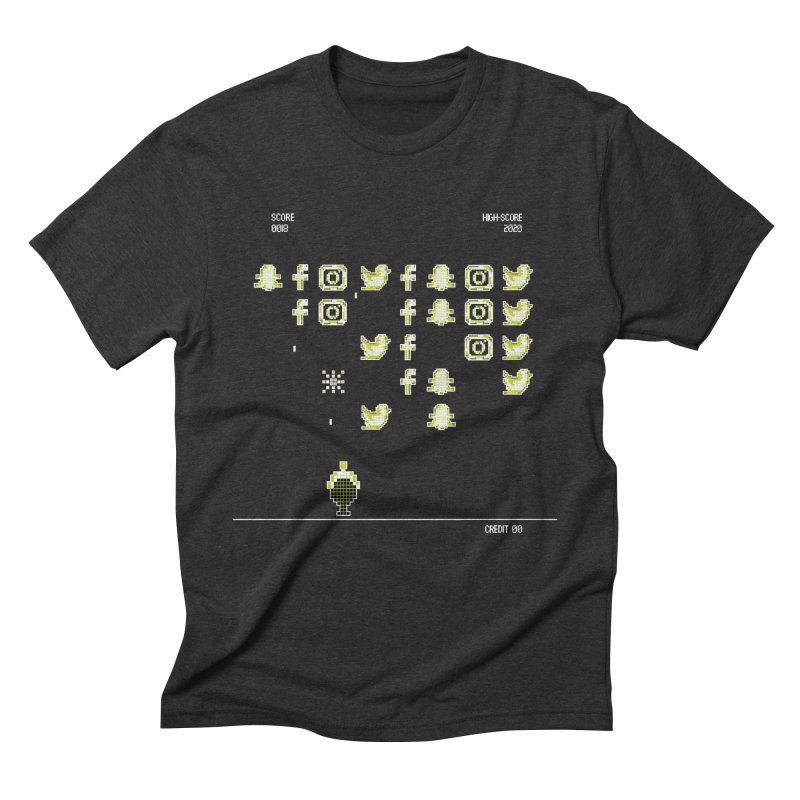 Space Invaders Men's Triblend T-Shirt by The Starving Crew's Artist Shop