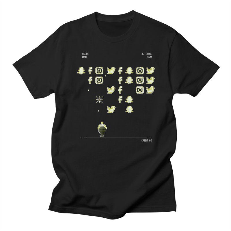 Space Invaders Men's T-Shirt by The Starving Crew's Artist Shop
