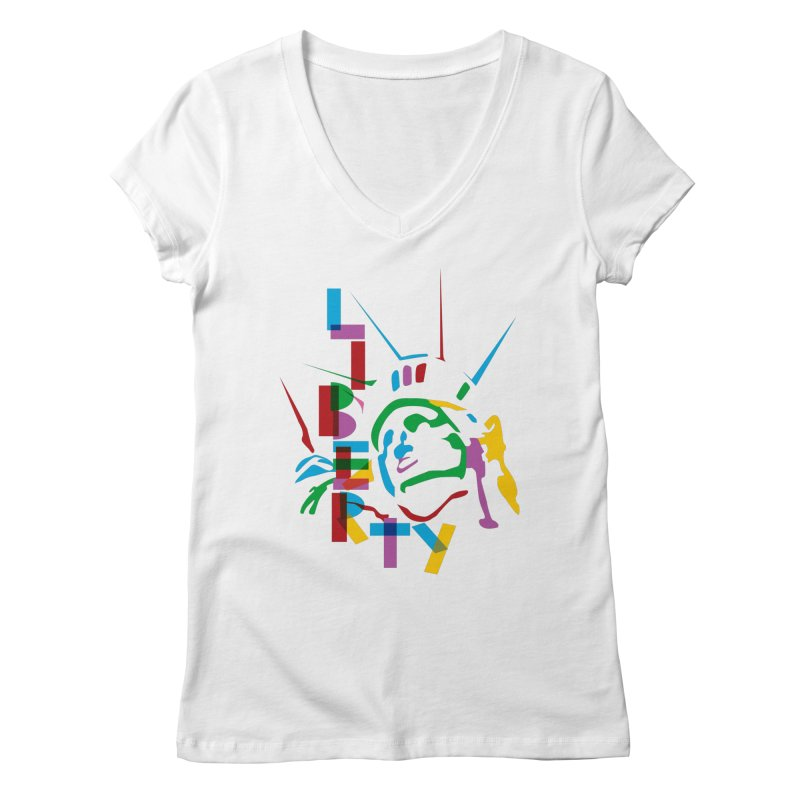 Liberty Women's V-Neck by thestarvingcrew's Artist Shop