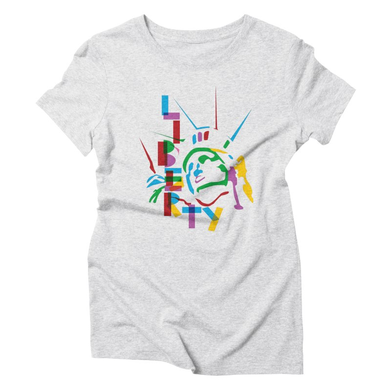 Liberty Women's Triblend T-shirt by thestarvingcrew's Artist Shop