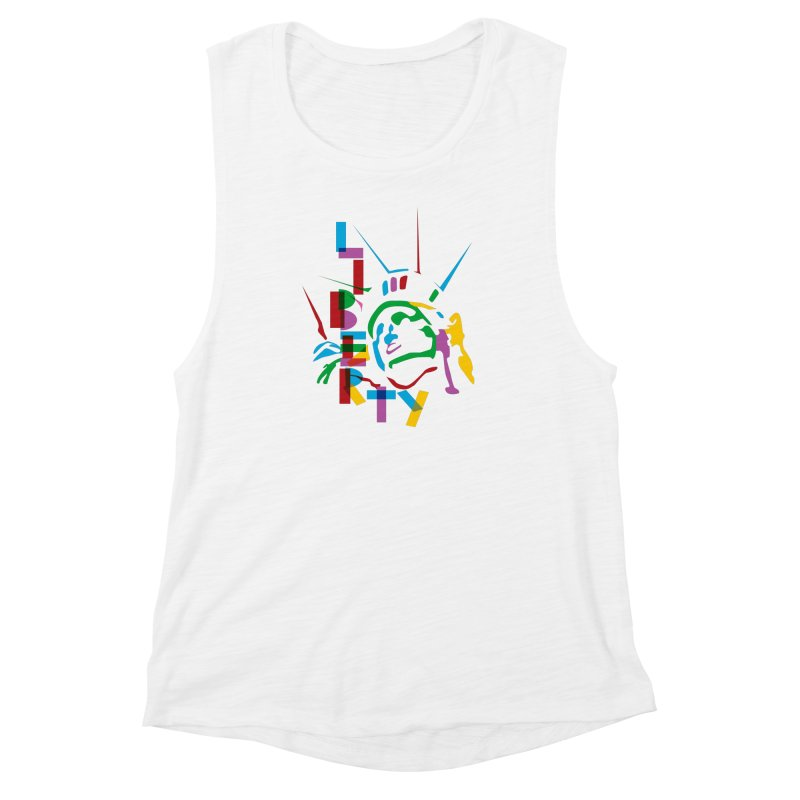 Liberty Women's Muscle Tank by thestarvingcrew's Artist Shop
