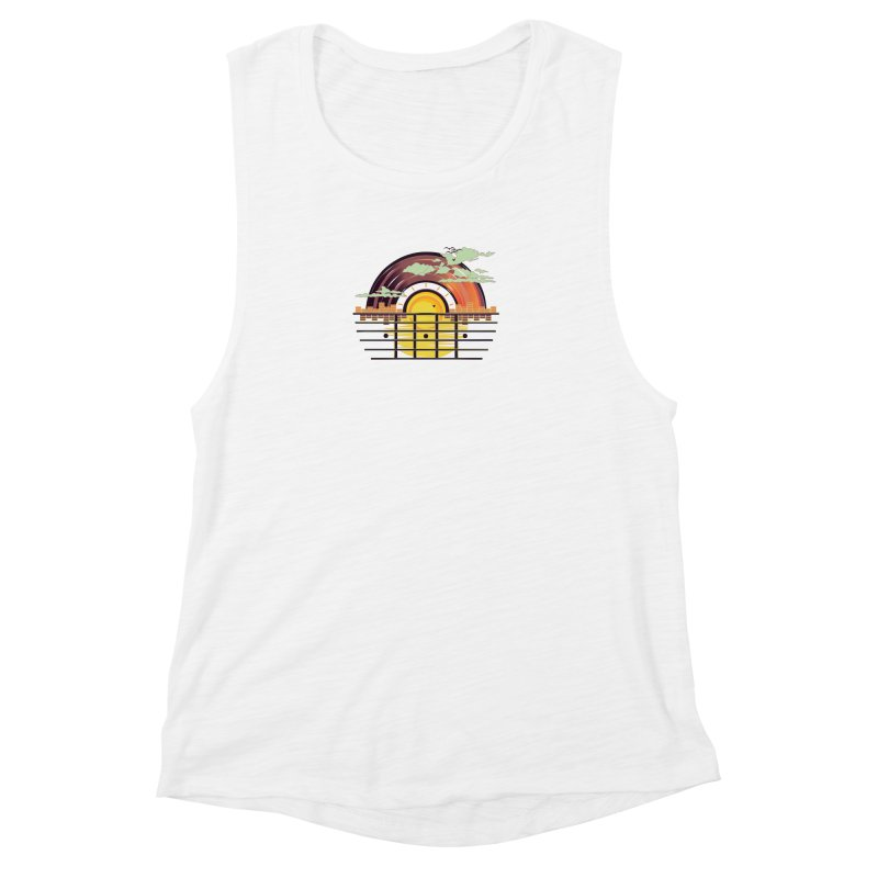 Here Comes the Sun Women's Muscle Tank by The Starving Crew