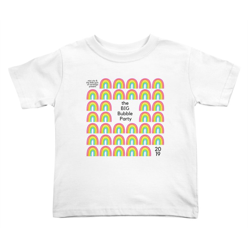 Big Bubble Party 2019 Kids Toddler T-Shirt by THE STICK PONY