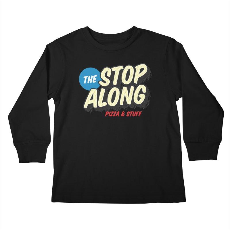 Yellow Dots Kids Longsleeve T-Shirt by StopAlong Swag