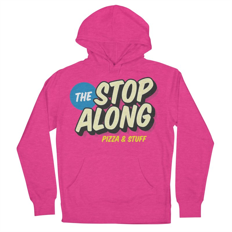 Pink/Red Shirt Men's French Terry Pullover Hoody by StopAlong Swag