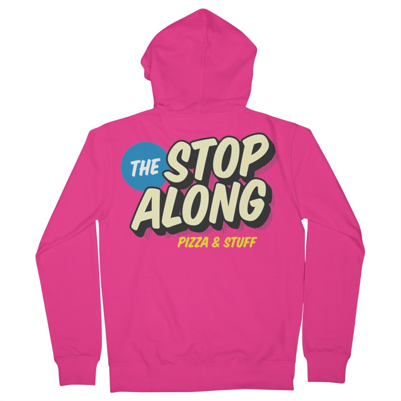 Pink/Red Shirt Men's French Terry Zip-Up Hoody by StopAlong Swag