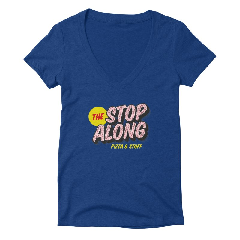 Blue Shirt Women's Deep V-Neck V-Neck by StopAlong Swag