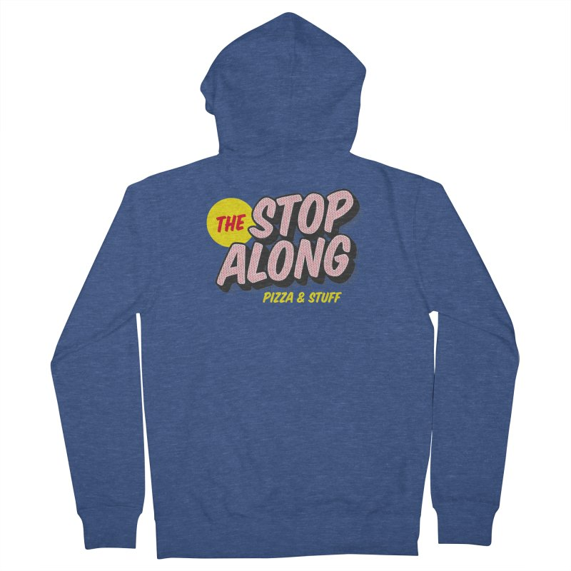 Blue Shirt Men's French Terry Zip-Up Hoody by StopAlong Swag