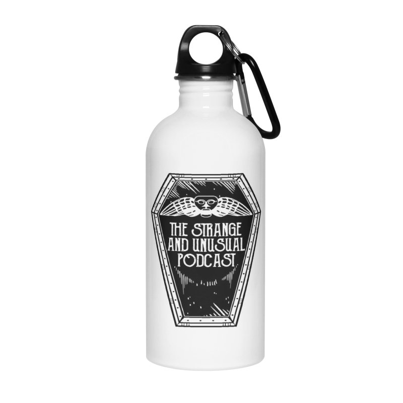 The Strange and Unusual Coffin Accessories Water Bottle by thestrangeandunusualpodcast's Artist Shop