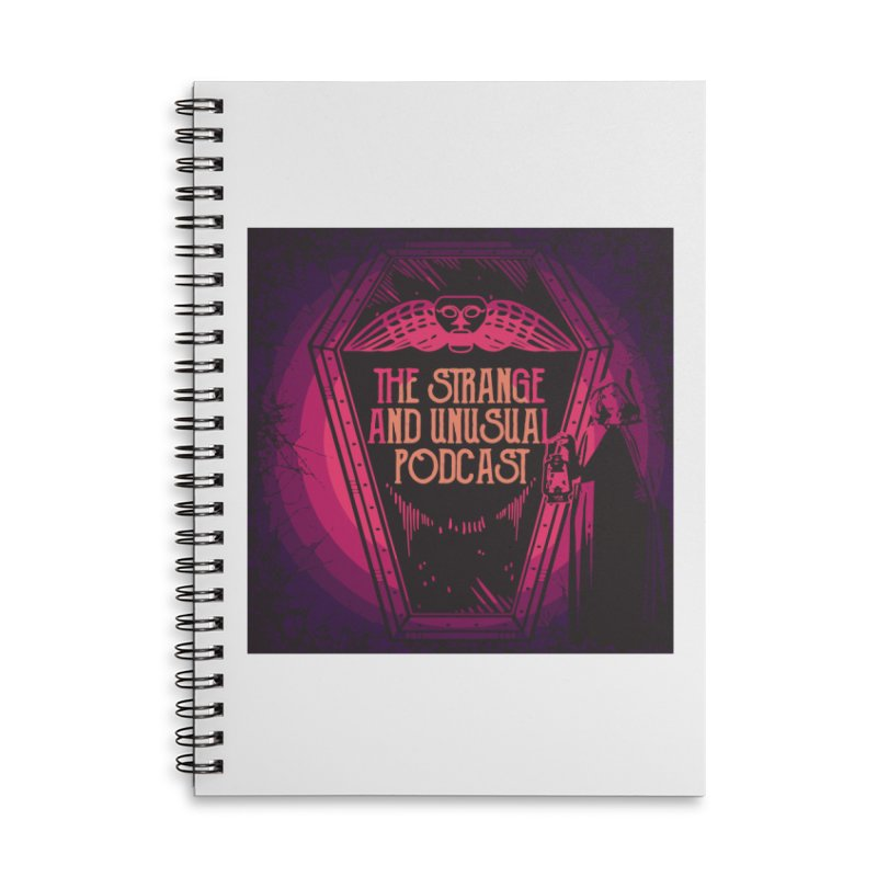 The Strange and Unusual Logo Accessories Lined Spiral Notebook by thestrangeandunusualpodcast's Artist Shop
