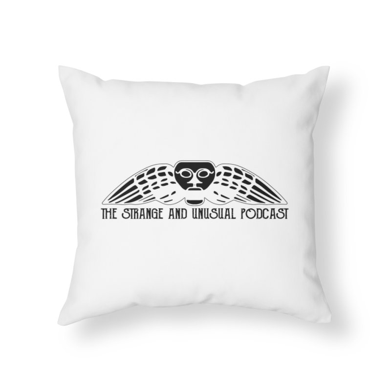 The Strange and Unusual Title Home Throw Pillow by thestrangeandunusualpodcast's Artist Shop