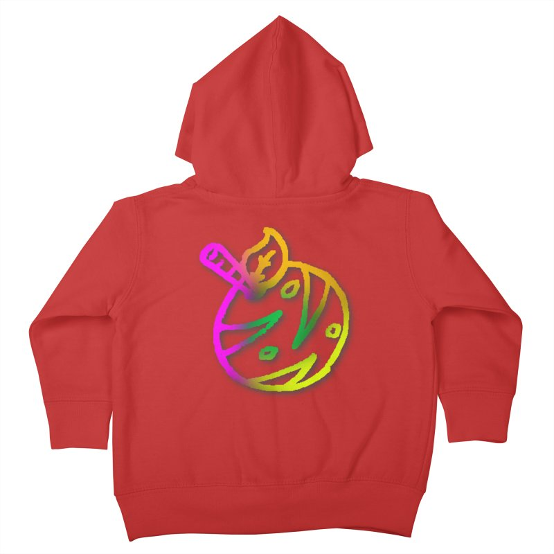 Froot Logo Multicolor Lineart Kids Toddler Zip-Up Hoody by Strange Froots Merch