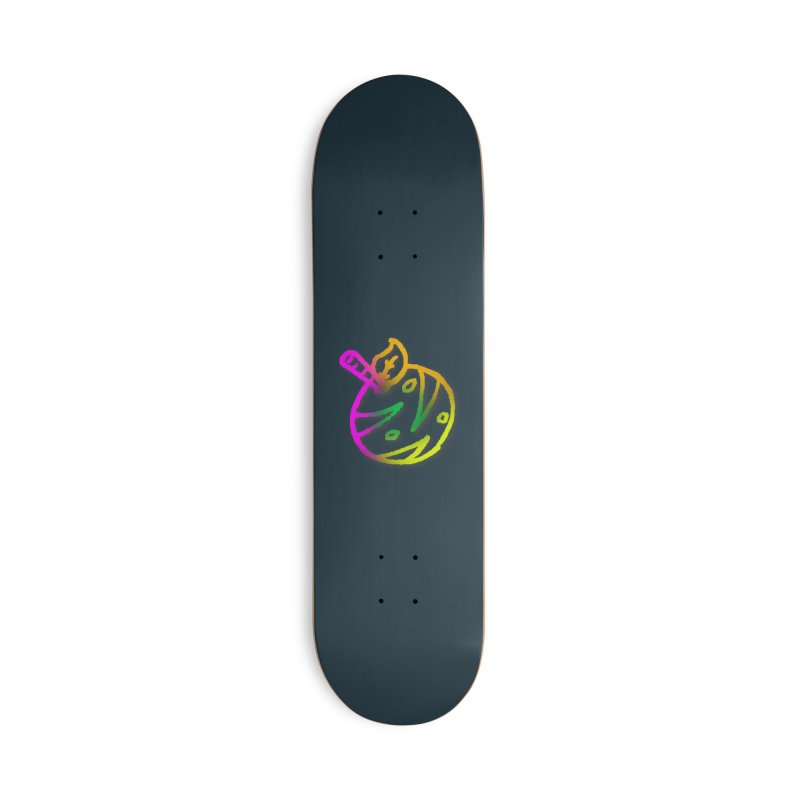 Froot Logo Multicolor Lineart Accessories Skateboard by Strange Froots Merch