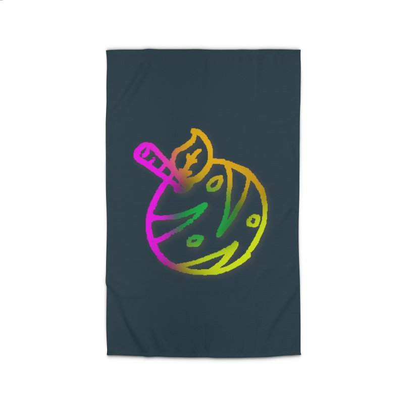 Froot Logo Multicolor Lineart Home Rug by Strange Froots Merch
