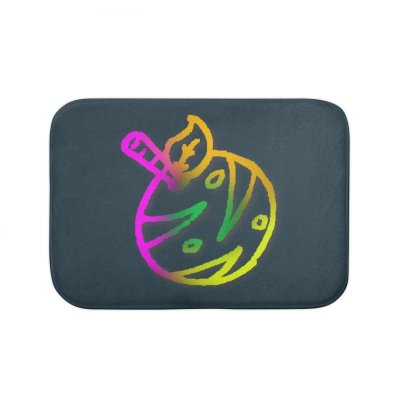 Froot Logo Multicolor Lineart Home Bath Mat by Strange Froots Merch