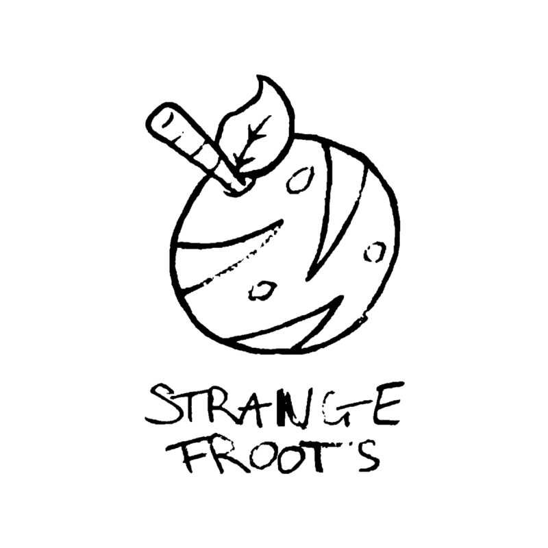Strange Froots Logo Lineart Accessories Skateboard by Strange Froots Merch