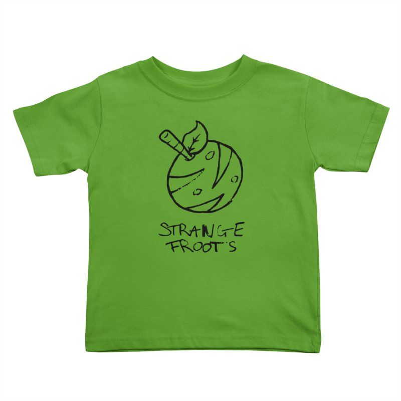 Strange Froots Logo Lineart Kids Toddler T-Shirt by Strange Froots Merch