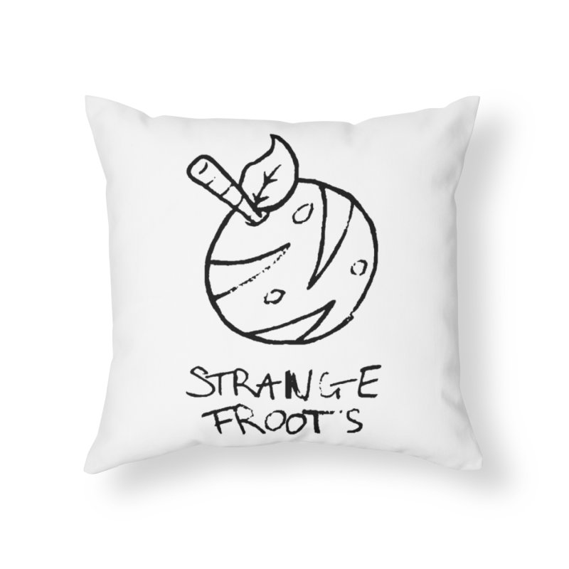 Strange Froots Logo Lineart Home Throw Pillow by Strange Froots Merch