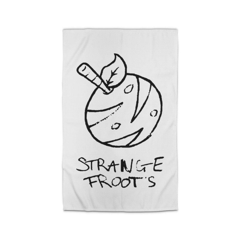 Strange Froots Logo Lineart Home Rug by Strange Froots Merch