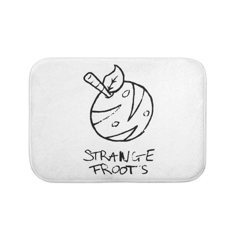Strange Froots Logo Lineart Home Bath Mat by Strange Froots Merch