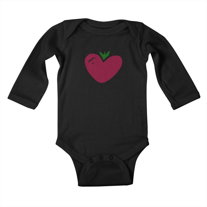 PassionFroot Logo Full Color Kids Baby Longsleeve Bodysuit by Strange Froots Merch