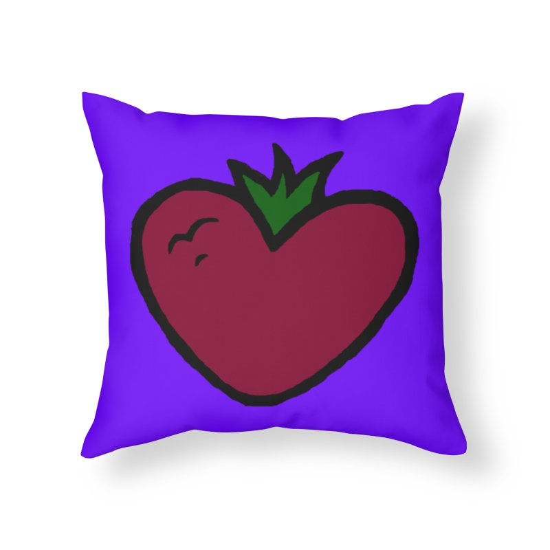 PassionFroot Logo Full Color Home Throw Pillow by Strange Froots Merch