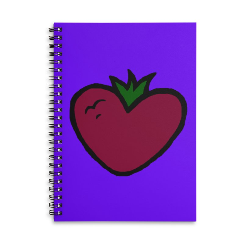 PassionFroot Logo Full Color Accessories Lined Spiral Notebook by Strange Froots Merch