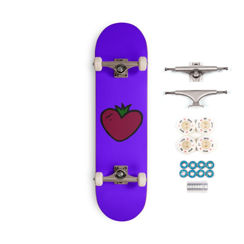 PassionFroot Logo Full Color Accessories Complete - Premium Skateboard by Strange Froots Merch