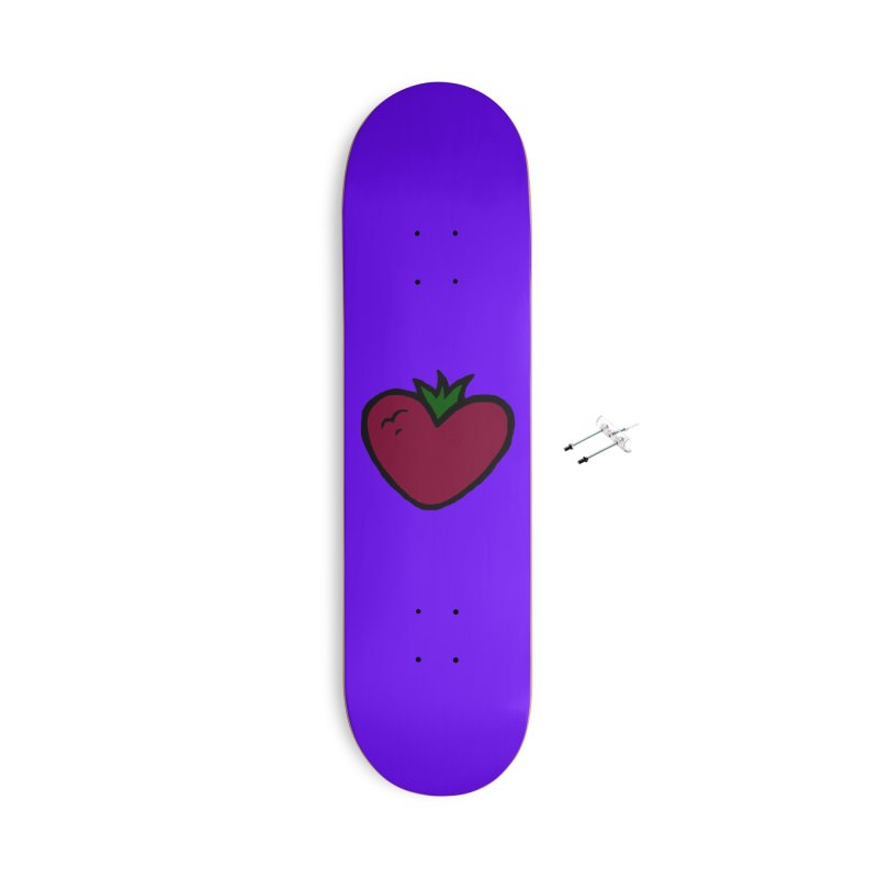 PassionFroot Logo Full Color Accessories With Hanging Hardware Skateboard by Strange Froots Merch