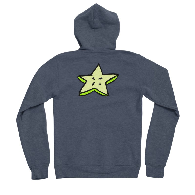 StarFroot Logo Full Color Men's Sponge Fleece Zip-Up Hoody by Strange Froots Merch