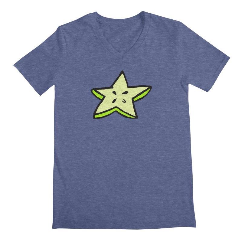 StarFroot Logo Full Color Men's Regular V-Neck by Strange Froots Merch