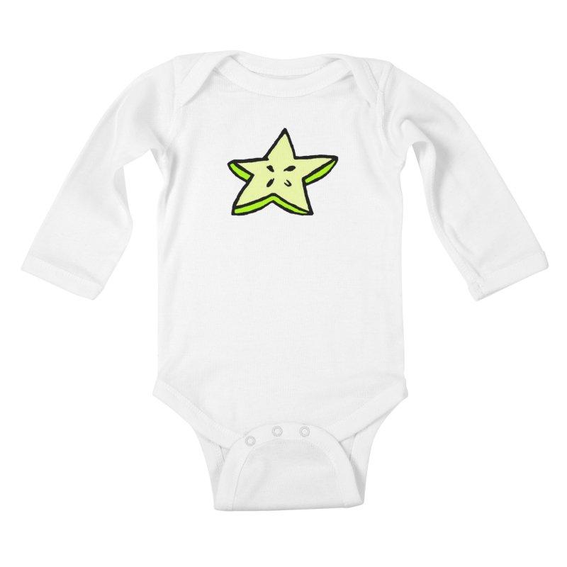 StarFroot Logo Full Color Kids Baby Longsleeve Bodysuit by Strange Froots Merch