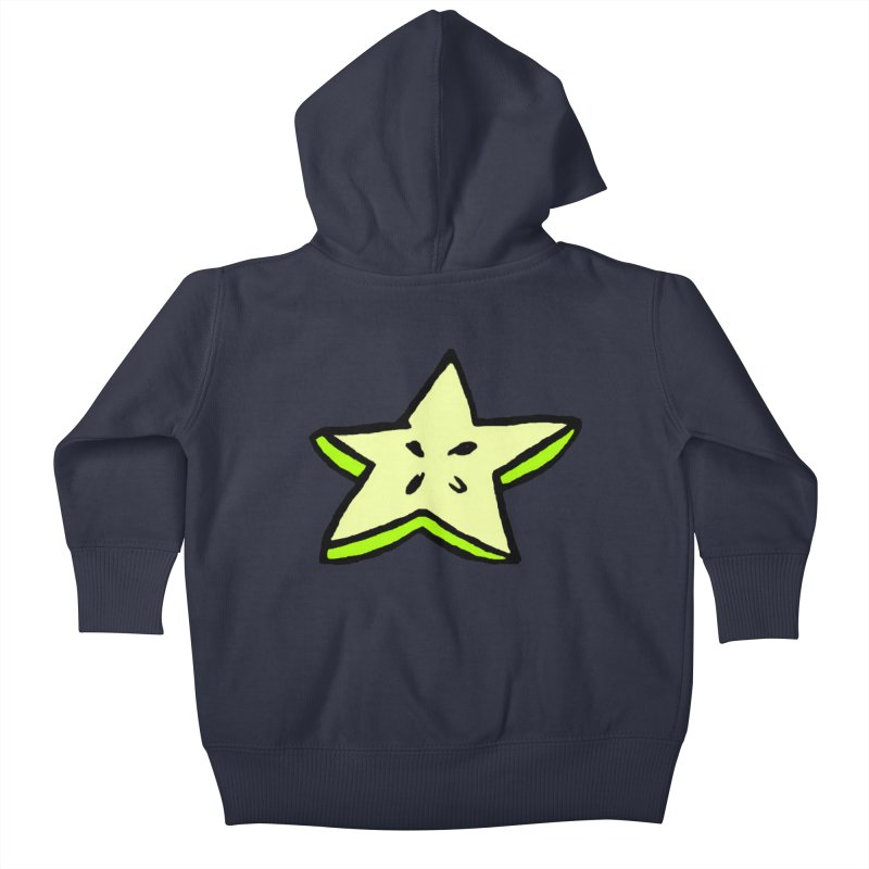 StarFroot Logo Full Color Kids Baby Zip-Up Hoody by Strange Froots Merch