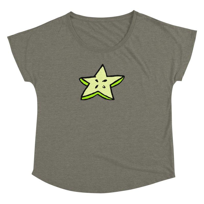 StarFroot Logo Full Color Women's Dolman Scoop Neck by Strange Froots Merch