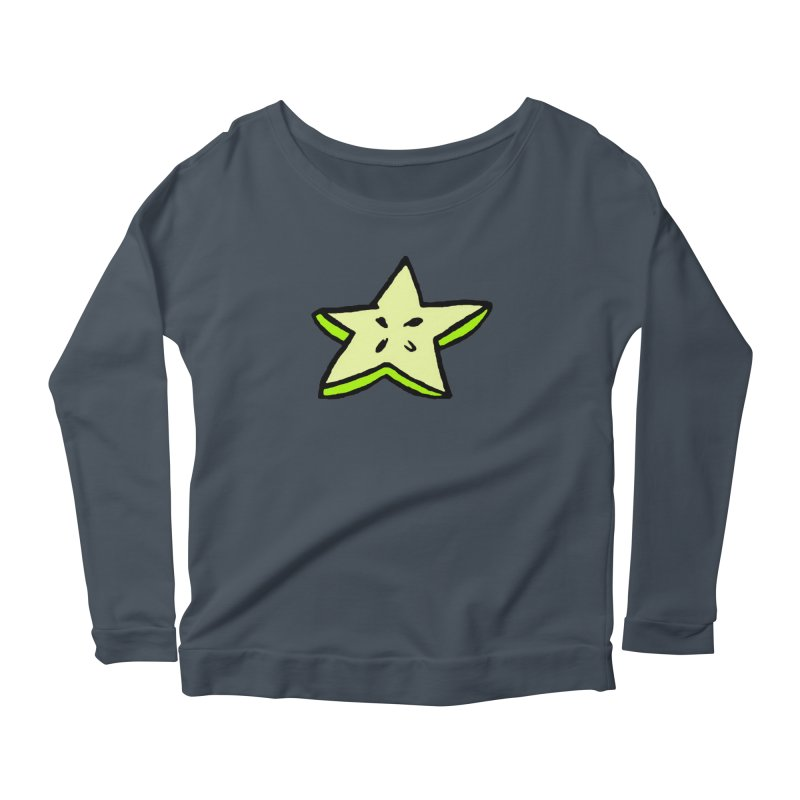 StarFroot Logo Full Color Women's Scoop Neck Longsleeve T-Shirt by Strange Froots Merch